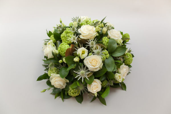 FUNERAL- WHITE AND GREEN POSY