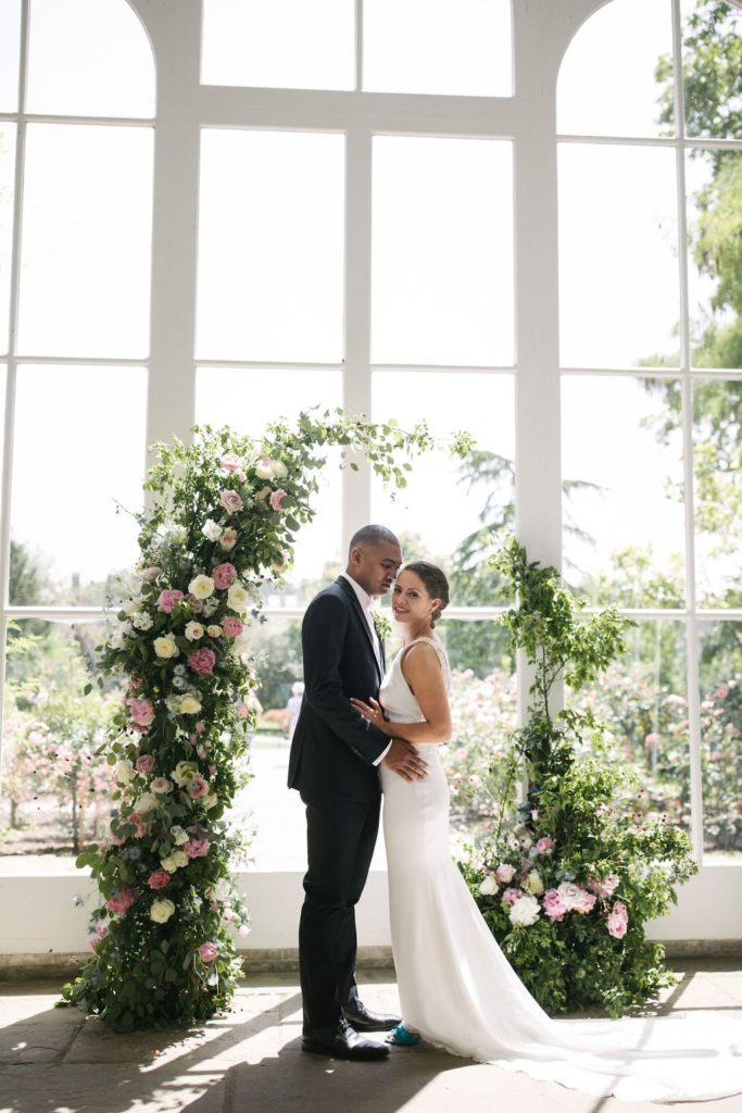 Flower Arch Wedding Holland Park Venue