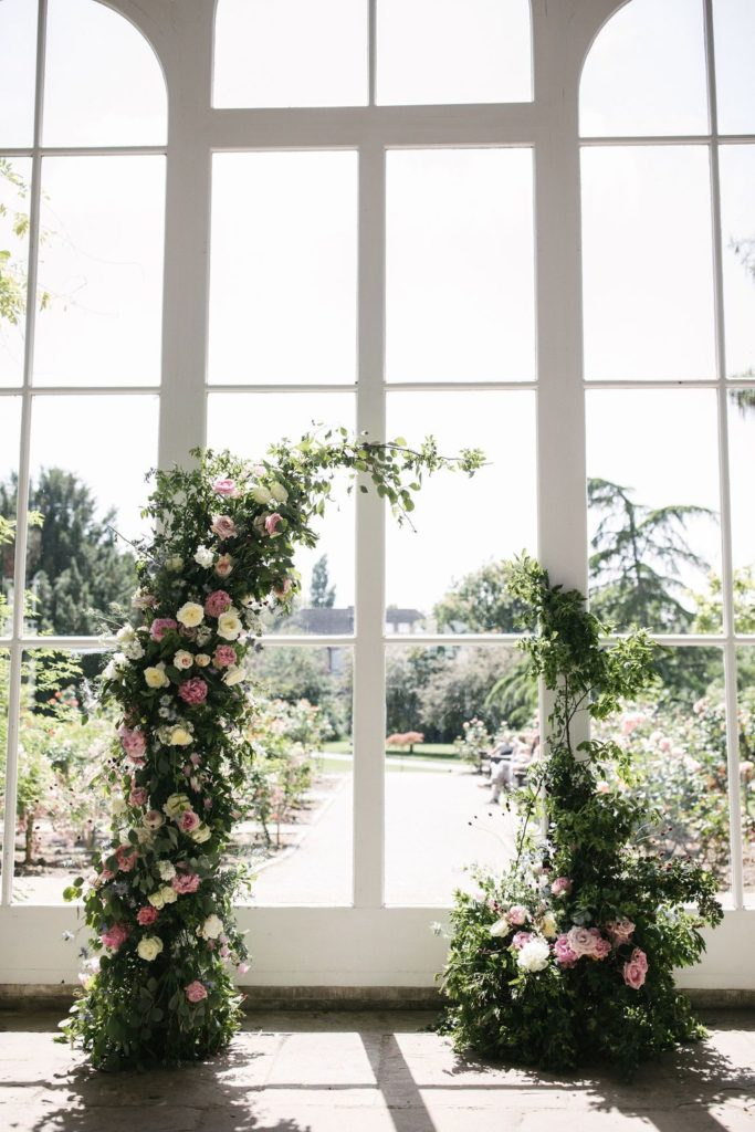 Flower Arch Wedding London Holland Park Venue