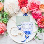 Greek Themed Crockery at Wedding Photoshoot